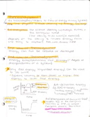 Thermodynamics Notes