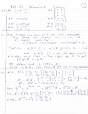 Homework Assignement 3 Solutions