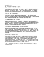 The Bluebook-2 Assignment