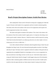BRADS PEER REVIEW FEATURE ARTICLE