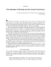 The Great Commission to Worship.docx