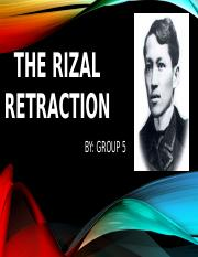 THE RIZAL RETRACTION.pptx