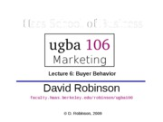 Lecture 6 Buyer behavior
