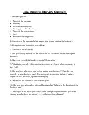 Local business interview questions .doc