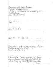 Operations with Complex Numbers Notes
