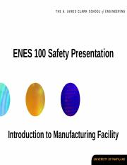 ENES 100 Safety Presentation