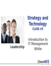 Class 5-SP15 - Strategy and Technology.pptx