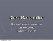 Direct Manipulation and Virtual Environments