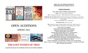 THE LOST WOMEN OF TROY Audition Announcement