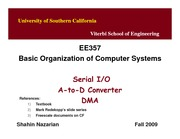 Unit13-SerialIO&ADC&DMA-EE357-Nazarian-Fall09
