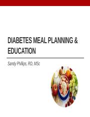 15- Intro to Diabetes Meal Planning 2016