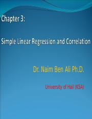 Chapter 3_Simple Linear Regression and correlation