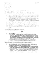 Gmo school essay