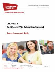 CHC40213 - CHCEDS026 - Course Assessment Guide.docx