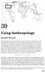 Chapter 39 Using Anthropology