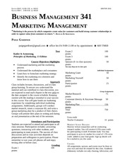Syllabus Business Management 341 Winter 2011