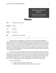 BIS 221_ Business Value of Software Applications Memo - essay.docx