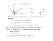 Area Moment Matrices Notes