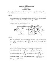 E 245 Homework Assignment 3; Chapter 2; 6th Edition; Solutions
