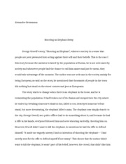 Health And Social Care Essays  Pages Shooting An Elephant Essay Essay My Family English also How To Write A Essay Proposal Shootng An Elephant Essay  Medina  Elizabeth Medina Prof Mansito  Interesting Persuasive Essay Topics For High School Students