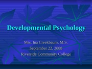 Developmental Psychology 09-22-08