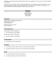 Assignment 3 _Part B_ -Resume