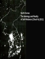 "North Korea - The Ideology and Reality of ""Self-Reliance"" (Chuch'e) (online).ppt"