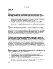 Auditing Homework - Chapter 10-11