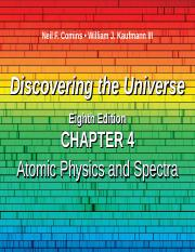 DTU 8e Lecture PPT Chap 4 Atomic Physics and Spectra v2.ppt