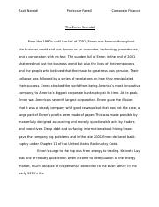 Enron Essay Corporate Finance.docx