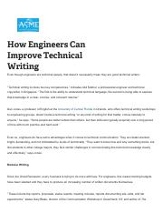 How Engineers Can Improve Technical Writing pdf