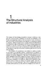 Structural Analysis of Industries