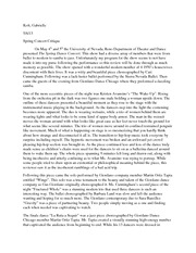 Essay on dance