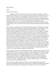 concerts review essays