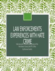 Law enforcements experiences with hate crime.pptx