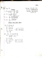 Finite Mathematics Homework (Slope and Linear Functions)
