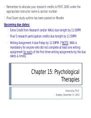 Chapter 15-Psych Therapies