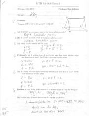 Exam #1 Solutions