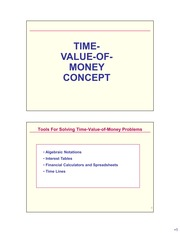 Microsoft PowerPoint - Time Value of Money Concepts