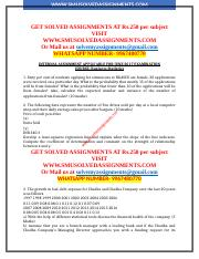 NMIMS MBA SOLVED ASSIGNMENTS