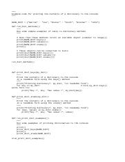 contents of a dictionary to the console.py