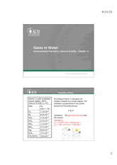 Chapter 11 vanLoon - Gases in Water