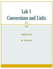 Conversions and Units-LECTURE (1)