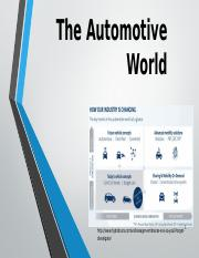 The Automotive World