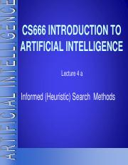 4 Lec 04 a  Informed (Heuristic) search