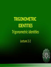 Engtrig Lecture 2_2 - Trig Identities II.ppt