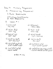 Multiply Polynomials Notes