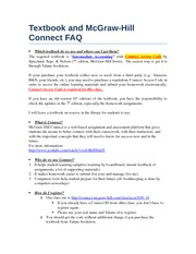Textbook and Connect FAQ