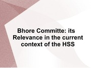 2 History of health policy making Bhore committee