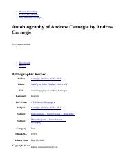 Autobiography of Andrew Carnegie by Andrew Carnegie - Free Ebook.html